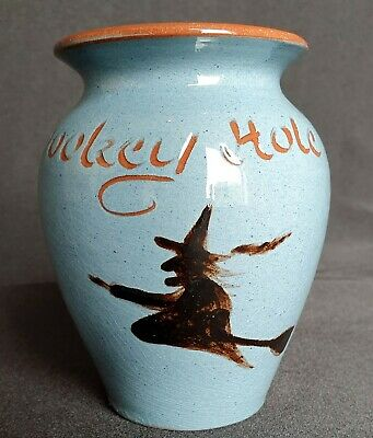 The Witch Of Wookey Hole Vase, Somerset Pottery Souvenir (Devon/Torquay Ware) • 9.99£