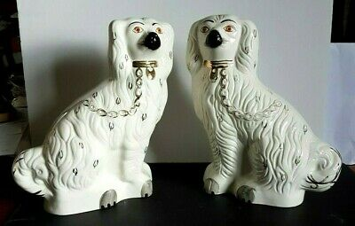 Rare Pair Of Vintage Mantle Spaniel Dogs By Beswick ( # 1378-2) - 30 Cm Tall • 100£