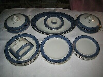 Vintage W Hulme Reliable Princess Blue & White Pottery Part Dinner Service • 18.50£