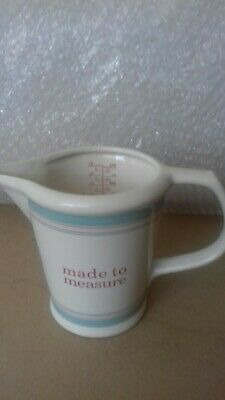 Laura Ashley Stoneware Measuring Jug -'Made To Measure' ~ Scale To 500 Ml / 18 F • 19.95£