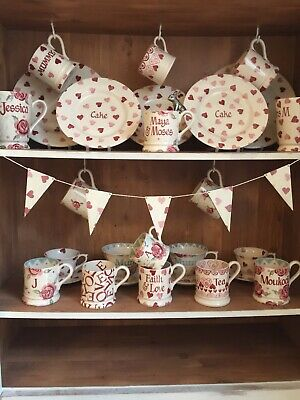 Emma Bridgewater Themed Bunting -  5 Flags - Pink Hearts • 8£