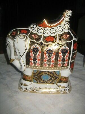 Large Royal Crown Derby Imari Indian Elephant Paperweight 21 Cm High • 389.99£