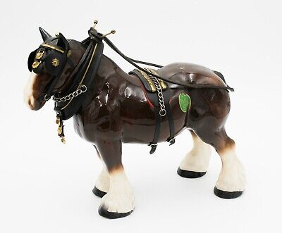 Large Melba Ware Pottery Shire Horse Ornament Figurine Collectable # T65 • 4.99£