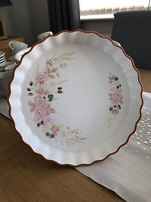 Boots Hedge Rose Large Flan Dish • 13£