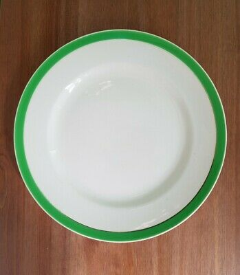 Queens Green Solian Ware 9  Plate /  SOHO POTTERY • 5.95£