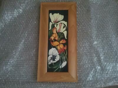 Superb  Moorcroft Pottery  Framed Plaque Miss Alice Emma Bossons 1st Quality • 169.99£