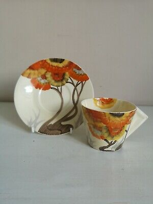 Clarice Cliff Bizarre  Rhodanthe  Conical Coffee Cup & Saucer  • 110£