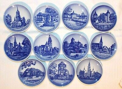 Collection Lot Of 11 Royal Copenhagen Miniature Plates    (free Postage) • 14.99£