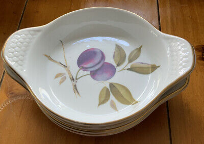 Royal Worcester - 4 X Eared Serving Dishes Evesham Gold .  Shape 41 • 6.90£