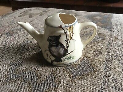 Brixham  Pottery Miniature Watering Can With Garden Bird Decoration. • 9.50£