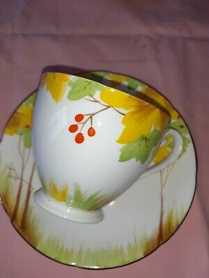 Vintage China Art Deco Extra Large Cup And Saucer Royal Grafton FAB • 7.99£