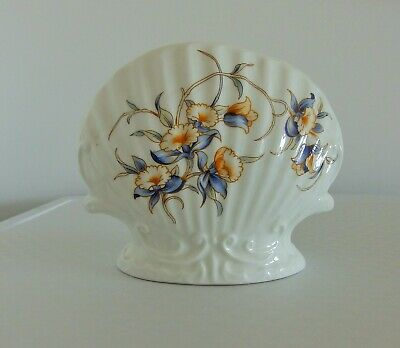 Aynsley Bone China Clam Shell Shape Vase Just Orchids Pattern • 1.95£