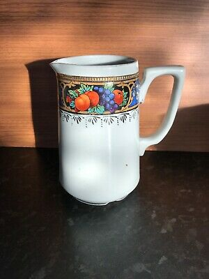 T Dean And Sons Tunstall England Jug Fruit Pattern • 3£
