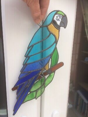 Stained Glass Macaw Parrot Suncatcher • 24.50£