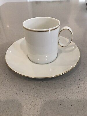 Thomas Germany Porcelain -Gold Band Bone China Coffee Cup Set X 6 & Extra Saucer • 20£