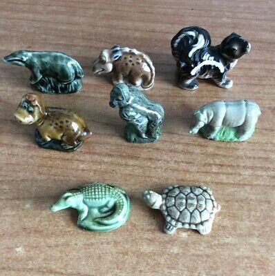8 Miniature Whimsies Animals Tortoise And Crocodile By Wade (pb) PW137 • 3.99£