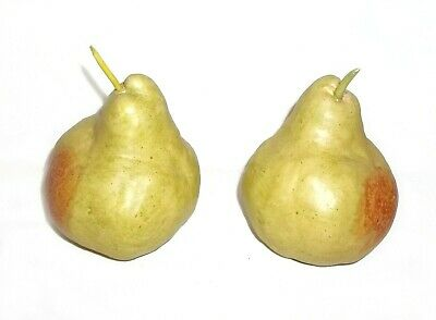 Two Vintage Ceramic/Pottery Packham Pear Ornaments • 3.99£