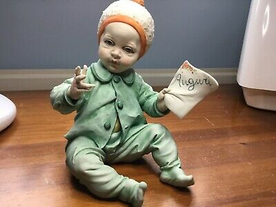 Capodimonte Porcelaine Baby With Certification By Tosca • 46£