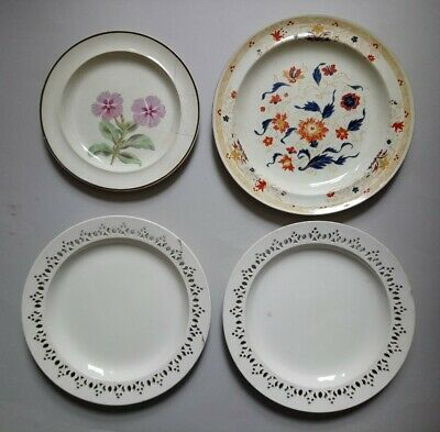 FOUR Antique Wedgwood Creamware Pottery Plates - Some A/F • 0.99£