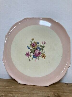 Old Antique Vintage Elijah Cotton Lord Nelson 3078 Staffordshire Cake Plate Pink • 8£
