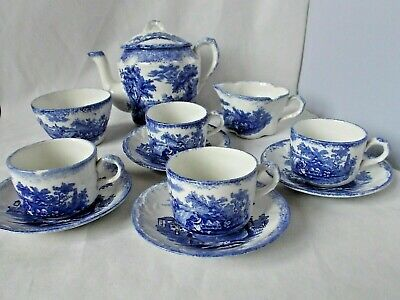 Ridgways Blue And White 11 Piece Childs Teaset • 29.99£