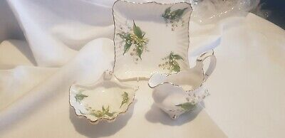 Hammersley China Lilly Of The Valley Patten (3 Pieces) • 25£