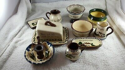 Job Lot Of Devon/Torquay Ware & Motto Ware. 10 Items. Free Postage Mainland UK. • 26.95£