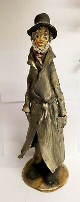 Norman Underhill Signed Very Large Art Pottery Figure Of A Gent In A Long Coat • 74.99£