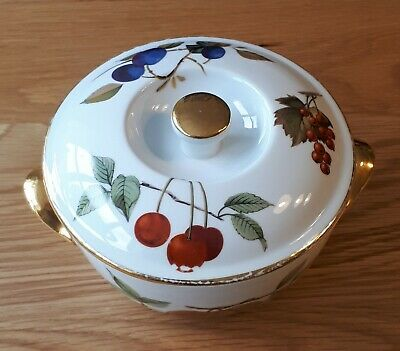 Royal Worcester Evesham Gold Small Casserole Dish With Lid. Shape 23 Size 5 • 2.99£