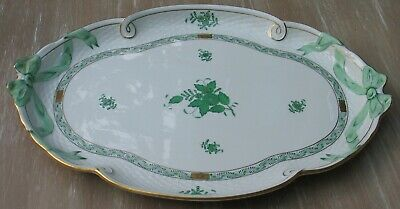 Herend Hungary Porcelain Chinese Bouquet Large Serving Tray 16  Across • 145£