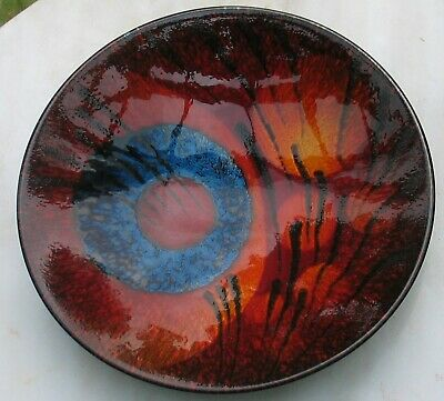 Alan Clarke Staffordshire Hand Painted Pottery Dish Ex Poole Pottery Designer • 28£