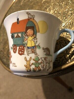 Shelley Mabel Lucie Attwell Caravan Cup Rare • 10.40£