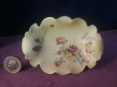 Antique Royal Worcester  Blush Floral  Pin Dish /Tray  Hand Painted  Shape 1347 • 29.99£