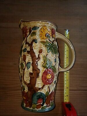 Pottery Hand Painted Jug Indian Tree • 3.99£