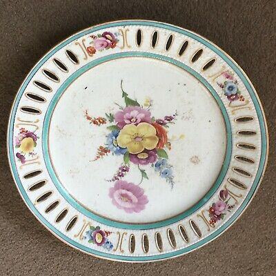 Beautiful Handpainted Floral Porcelain Plate With Sevres Marks - 18th/19th C.  • 15£