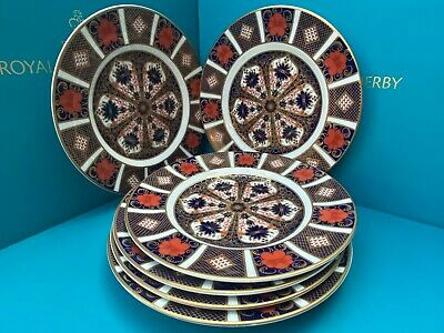 New Royal Crown Derby 2nd Quality Old Imari 1128 Set Of 6 X 21cm Side Plates • 350£