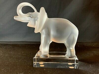 Lalique France Crystal Glass Elephant Figurine 11801 In Perfect Condition • 125£