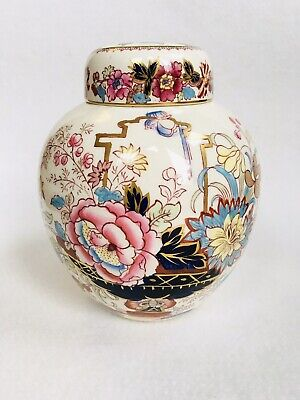 Antique Masons Ironstone Ginger Jar - 'Brocade' Hand Painted, Made In England • 5£