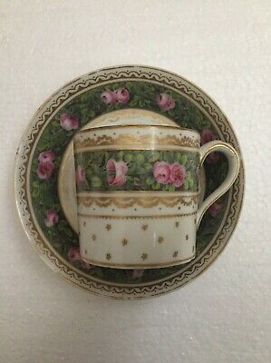 Paris Porcelain Marie Antoinette Factory Of Sevres Quality Coffee Can & Saucer  • 29.99£