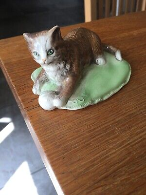 Branksome China Pottery Cat • 14£