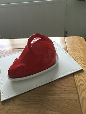 Vintage Red Mouse Cheese Dish • 7.50£