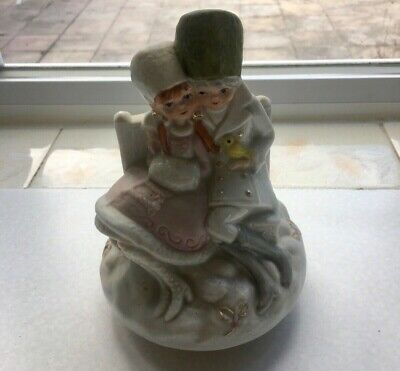 A Delightful Wind Up Musical Figurine Of A Boy And Girl In Russian Dress • 8£