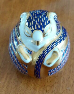 ROYAL CROWN DERBY IMARI DORMOUSE PAPERWEIGHT.Excellent. • 10.90£