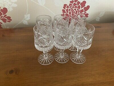 6 X Tyrone Crystal Sherry Glasses • 60£