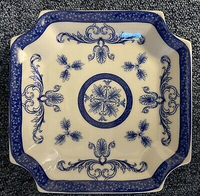 Blue & White Pedestal Cake Or Petit Fours Plate / Stand • 4.99£