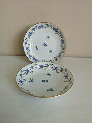 Pair Of Herend  Blue Garland  Saucers • 19.99£