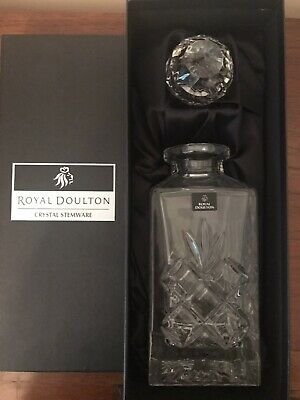 Royal Doulton Decanter - Crystal - Used Once - Excellent Condition • 22£