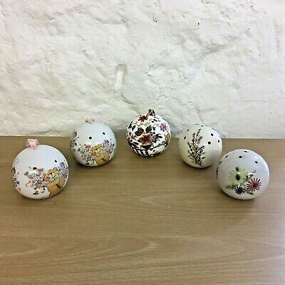 Group Of 5 Vintage Pomanders Various Designs Incl. RYE And Victoria China • 16£