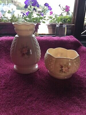 Irish Parian Donegal China Vase And Bowl • 20£