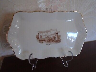 Bone China Sandwich Plate With View Of Thurso, Caithness. H M Sutherland. • 10£